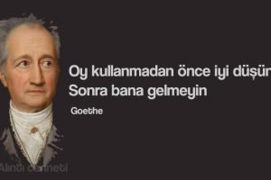 Goethe seçimler ve oy kullanma
