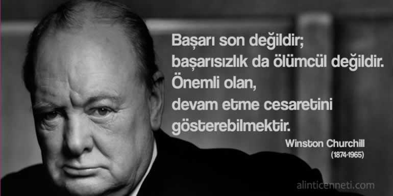 Başarı hakkında Winston Churchill sözleri