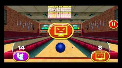 3D Bowling oyna. Cep telefonu oyunu