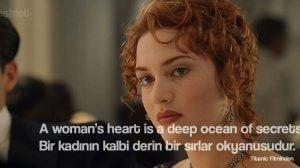 titanic kate winslet rose kadın kalbi güzel sözler