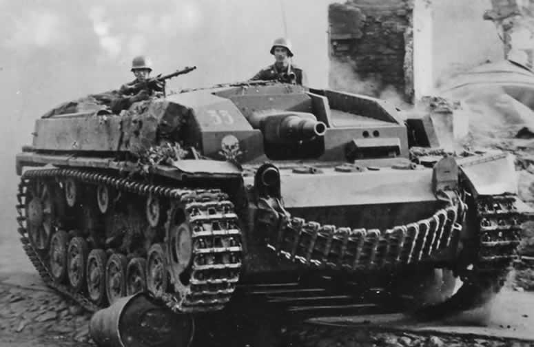 savaşta stug III tankı